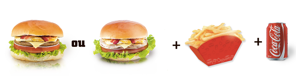 251. 1 Big King Burger ou 1 Big King Frango + Batata Frita + 1 Refri Lata ou 1 Refrigerante mix de 500ml
